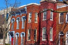 Ιστορική κατοικημένη αρχιτεκτονική του Washington DC, ΗΠΑ Στοκ Εικόνες