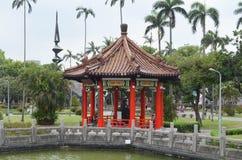 Ιστορική κινεζική αρχιτεκτονική στην πόλη της Ταϊπέι στοκ φωτογραφία