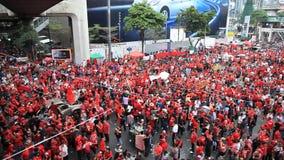 Ιστορική κόκκινη διαμαρτυρία πουκάμισων στο κέντρο της Μπανγκόκ, Ταϊλάνδη - 19 Νοεμβρίου 2010 φιλμ μικρού μήκους