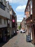 Ιστορική οδός στις παρόδους, Νόργουιτς, Norfolk, UK στοκ φωτογραφία με δικαίωμα ελεύθερης χρήσης