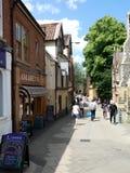 Ιστορική οδός στις παρόδους, Νόργουιτς, Norfolk, UK στοκ φωτογραφίες