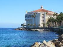 Ιστορική οικοδόμηση χαρτοπαικτικών λεσχών της Catalina Island, Καλιφόρνια στοκ εικόνες με δικαίωμα ελεύθερης χρήσης