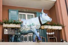 Ιστορική οικοδόμηση Cowparade της Ζυρίχης Ελβετία Στοκ Φωτογραφίες