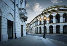 Ιστορική οικοδόμηση nouveau τέχνης της τράπεζας στην παλαιά πόλη της Βαρσοβίας, Πολωνία Στοκ φωτογραφία με δικαίωμα ελεύθερης χρήσης