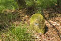 Ιστορική πέτρα Γερμανία Κάτω Χώρες ορίου στοκ φωτογραφίες