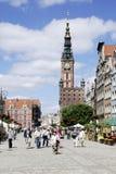Ιστορική παλαιά πόλη του Γντανσκ στην Πολωνία Στοκ Φωτογραφία