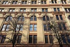 Ιστορική πρόσοψη οικοδόμησης στο San Antonio Τέξας Στοκ εικόνα με δικαίωμα ελεύθερης χρήσης