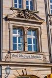 Ιστορική πρόσοψη στην πόλη της βηρυττού - θέση - τηλέφωνο - τηλέγραφος Στοκ εικόνα με δικαίωμα ελεύθερης χρήσης