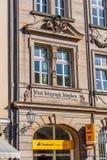 Ιστορική πρόσοψη στην πόλη της βηρυττού - θέση - τηλέφωνο - τηλέγραφος Στοκ εικόνες με δικαίωμα ελεύθερης χρήσης