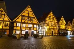 Ιστορική πόλη πιό soest Γερμανία το βράδυ στοκ φωτογραφία με δικαίωμα ελεύθερης χρήσης