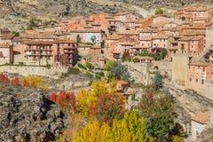 Ιστορική πόλη Albarracin στα χρώματα φθινοπώρου Στοκ φωτογραφίες με δικαίωμα ελεύθερης χρήσης