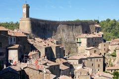 Ιστορική πόλη Sorano, Τοσκάνη, Ιταλία Στοκ εικόνα με δικαίωμα ελεύθερης χρήσης