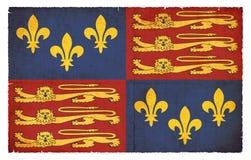 Ιστορική σημαία grunge της Αγγλίας Tudor, 1406-1603 Στοκ φωτογραφία με δικαίωμα ελεύθερης χρήσης