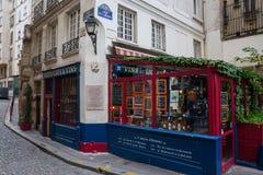Ιστορική ταβέρνα αμπέλων Ile de Λα Cite στο Παρίσι, Γαλλία Στοκ Εικόνα