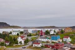Ιστορική του χωριού τριάδα νέα γη NL Καναδάς στοκ εικόνα