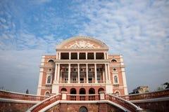ιστορική όπερα του Manaus σπιτ&io στοκ εικόνα