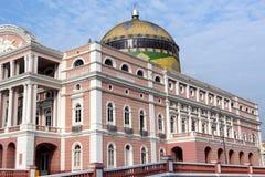 ιστορική όπερα του Manaus σπιτ&io στοκ εικόνες