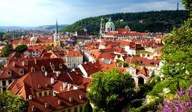 ιστορική όψη της Πράγας πόλ&epsil Στοκ Φωτογραφίες
