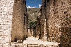 Ιστορικοί τοίχοι του θιβετιανού ναού Στοκ φωτογραφίες με δικαίωμα ελεύθερης χρήσης