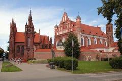 Ιστορικός-αρχιτεκτονικό σύνολο Bernardines, Vilnius Στοκ εικόνα με δικαίωμα ελεύθερης χρήσης
