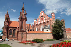 Ιστορικός-αρχιτεκτονικό σύνολο Bernardines, Vilnius, Lithu Στοκ εικόνα με δικαίωμα ελεύθερης χρήσης