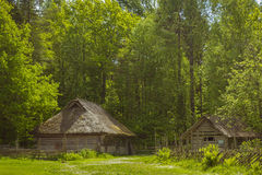 Ιστορικός εσθονικός υπαίθριος μουσείων σπιτιών Στοκ φωτογραφίες με δικαίωμα ελεύθερης χρήσης