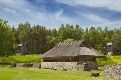 Ιστορικός εσθονικός υπαίθριος μουσείων σπιτιών Στοκ φωτογραφία με δικαίωμα ελεύθερης χρήσης