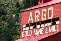 Ιστορικός μύλος ορυχείου χρυσού Argo Στοκ Εικόνες