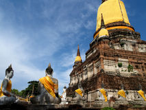Ιστορικός-πάρκο Ayutthaya Στοκ Εικόνες