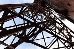 Ιστορικός πύργος Γκελσενκίρχεν Γερμανία μεταλλείας στοκ εικόνα με δικαίωμα ελεύθερης χρήσης