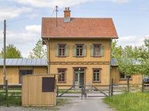 ιστορικός σιδηροδρομικός σταθμός Στοκ φωτογραφία με δικαίωμα ελεύθερης χρήσης