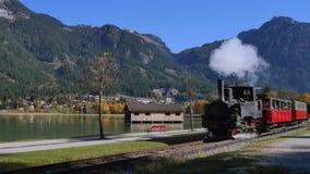 Ιστορικός σιδηρόδρομος βαραίνω ατμού Achensee απόθεμα βίντεο