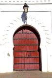 ιστορικός στον παλαιό λαμπτήρα οδών πορτών οικοδόμησης διανυσματική απεικόνιση