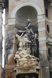 Ιστορικό άγαλμα σε Espana, Βαρκελώνη Στοκ Εικόνες