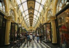 Ιστορικό βασιλικό Arcade στη Μελβούρνη Στοκ Φωτογραφία