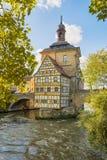 Ιστορικό Δημαρχείο της Βαμβέργης, Βαυαρία, Γερμανία στοκ εικόνες