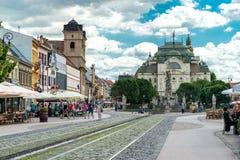 Ιστορικό κέντρο πόλεων σε Kosice, Σλοβακία Στοκ εικόνα με δικαίωμα ελεύθερης χρήσης
