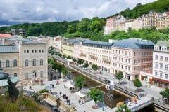 Ιστορικό κέντρο στην πόλη Κάρλοβυ Βάρυ, δυτική Βοημία, Τσεχία SPA στοκ εικόνες με δικαίωμα ελεύθερης χρήσης