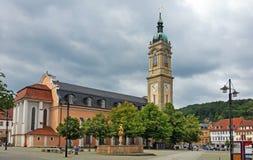Ιστορικό κέντρο της Νίκαιας της γερμανικής πόλης Eisenach Στοκ Εικόνες