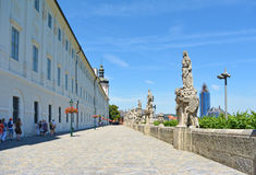 Ιστορικό κέντρο της πόλης Kutna Hora κοντά στον καθεδρικό ναό Στοκ φωτογραφία με δικαίωμα ελεύθερης χρήσης