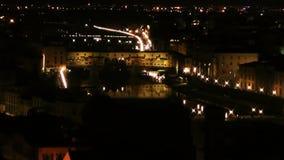 Ιστορικό κέντρο της Φλωρεντίας απόθεμα βίντεο