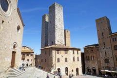 Ιστορικό κέντρο του SAN Gimignano, Τοσκάνη, Ιταλία Στοκ Φωτογραφία