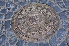 Ιστορικό καπάκι μετάλλων των υδραυλικών Στοκ Εικόνες