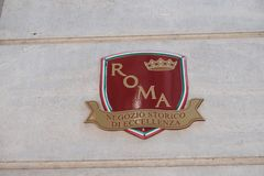 Ιστορικό κατάστημα της τελειότητας στη Ρώμη Στοκ φωτογραφία με δικαίωμα ελεύθερης χρήσης
