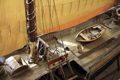 Ιστορικό κατάστρωμα πλοίων στοκ εικόνες