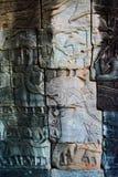 Ιστορικό κτήριο γλυπτικών σε Angkor wat Thom Καμπότζη Στοκ φωτογραφία με δικαίωμα ελεύθερης χρήσης