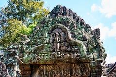 Ιστορικό κτήριο γλυπτικών σε Angkor wat Thom Καμπότζη Στοκ Φωτογραφίες