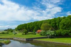 Ιστορικό κτήριο κοντά στο κάστρο Kalmar Στοκ φωτογραφίες με δικαίωμα ελεύθερης χρήσης