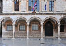 Ιστορικό κτήριο με τα archs σε Dubrovnik Στοκ εικόνα με δικαίωμα ελεύθερης χρήσης