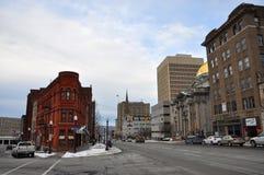 Ιστορικό κτήριο σε Utica, κράτος της Νέας Υόρκης, ΗΠΑ Στοκ φωτογραφία με δικαίωμα ελεύθερης χρήσης